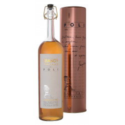 Brandy Italiano di Poli 40° Distilleria jacopo Poli con tubo di rame