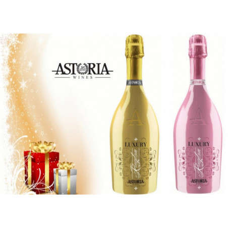 "Gift Box: 1 Bottle VINO SPUMANTE DRY LUXURY DRY GOLD""KINGDOM"" - 1 Bottle VINO SPUMANTE DRY ROSÉ LUXURY DRY ""KINGDOM"""