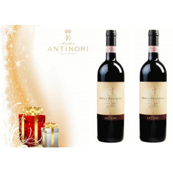 GIFT BOX : 1 BOTTLE Villa Antinori Marchesi Antinori - 1 BOTTLE Chianti Classico Peppoli Marchesi Antinori