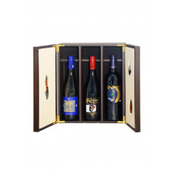 Gift Box - Elegant wooden box + precious accessories for Sommelier and wine collection South Tyrol Franz Haas