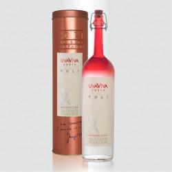 Distillato Uva Viva Rossa 40° Distilleria Jacopo Poli con tubo di rame