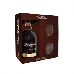 RON DOS MADERAS P.X. 5+5 AÑOS - 1 bottle of 0,70l. and 2 glasses - WILLIAMS & HUMBERT - m