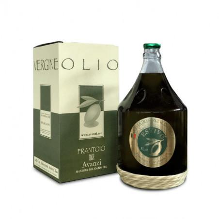 Glasplättchen 5 Lt Natives Olivenöl extra für den Sommer -Frantoio Avanzi