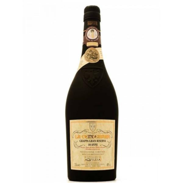 Offerta Imperdibile -  Grappa Gran Riserva 10 anni La Centenara Distilleria Aquileia - cassa da 3 bottiglie
